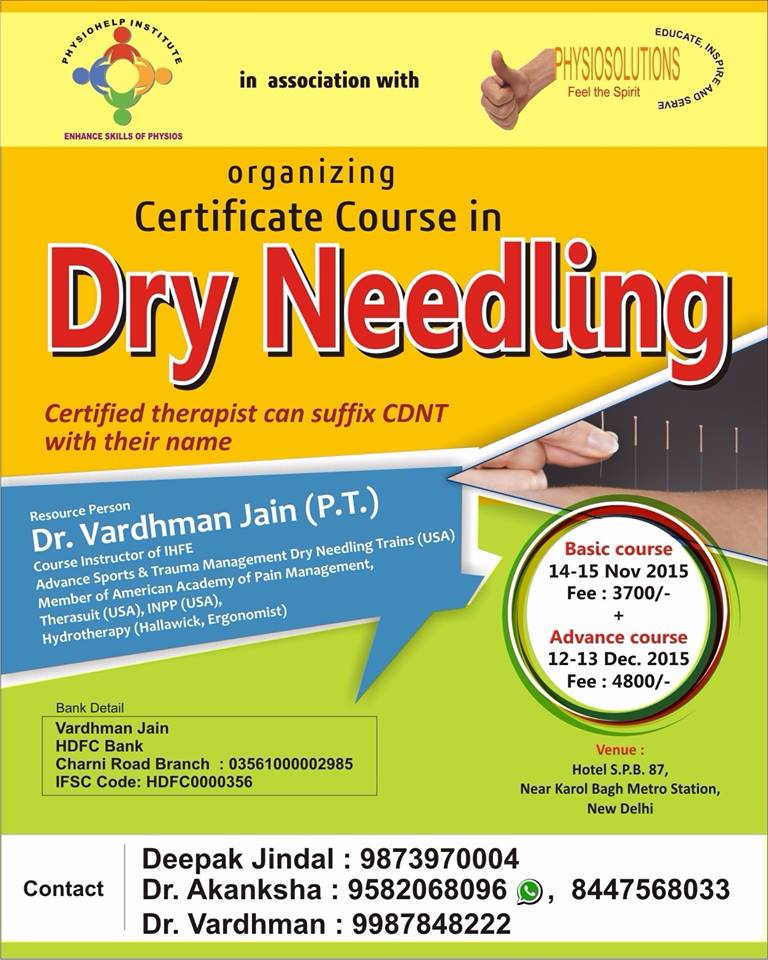 coolphysio.com | Events | Certificate Dry Needling course