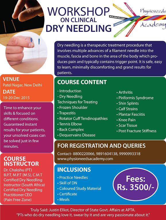 coolphysio.com   Events   Workshop on Clinical Dry Needling