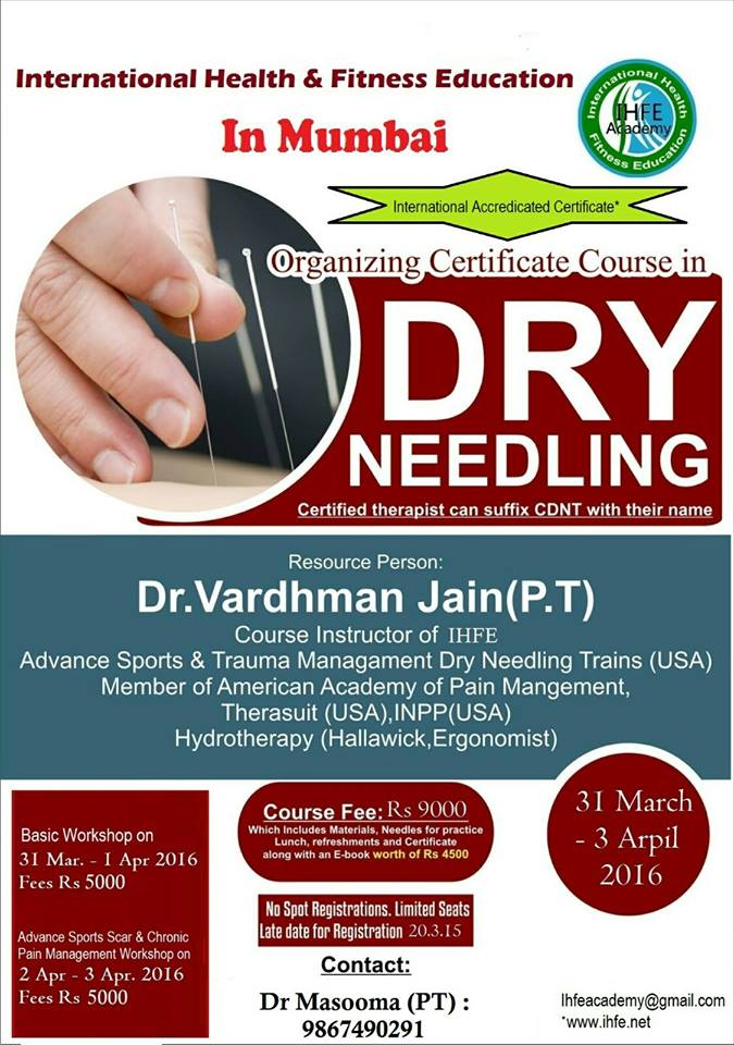 coolphysio.com | Events | Certificate Course in dry Needling